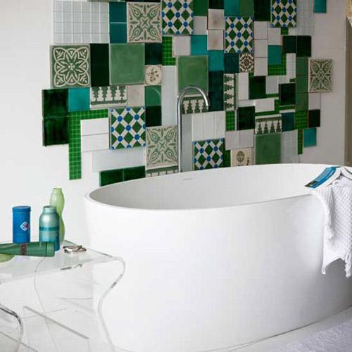 decorar con azulejos reutilizados